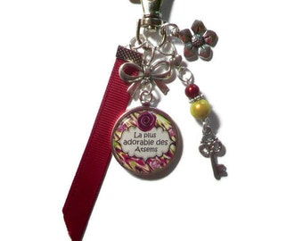 """Bag charm, door keys/home / """"The most adorable the Atsems"""" / year end gift/birthday/party/thanks/holiday / Christmas"""