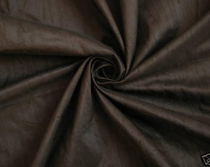 Chocolate Brown 100% Dupioni Silk Fabric Wholesale Roll/ Bolt