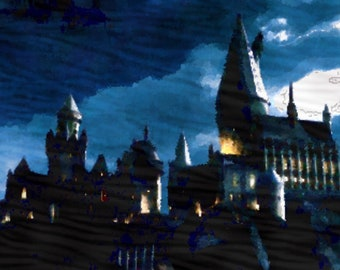 Hogwarts postcard/A6 artcard