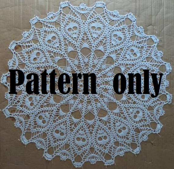 Crown Of Skulls Doily Pattern Pdf Downloadable Pattern From