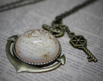 Vegan Steampunk Nautical Necklace / Ethical and Unique Handmade Jewellery / Vintage, Pirate and Nautical Themed Jewellery