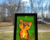 HAPPY CAT~stained glass p...