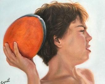 """Portrait painting • Children's portrait • Custom portrait • Oil paint • 11"""" BY 14"""" • Lynnet FineArt."""