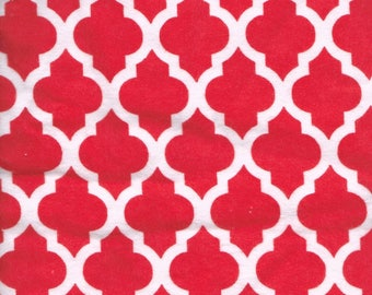 """RED & WHITE FLANNEL Fabric, 1 yard x 42"""" inches wide.  Brand new."""