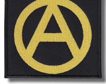 Anarchy yellow - embroidered patch 10x9 cm