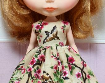 BLYTHE doll Its my party dress - little birds