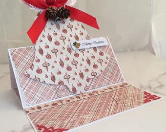 Handmade Christmas Card, Boxed Card, Keepsake Card, Luxury Card, Bell Card, Easel Card