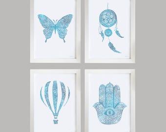 Nursery Room Prints - Zen Blue