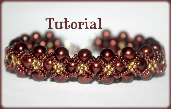 Pearls And Seed Beads Beading Pattern Pdf Bracelet Or Necklace