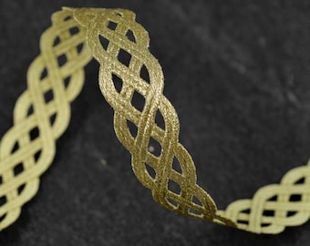 "1/2"" Fine Metallic Braid Trim for Bridal, Costume or Jewelry, Crafts and Sewing by 3-Yards, MAY-DN7156"