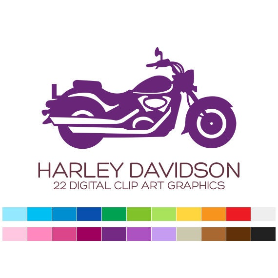 harley davidson clipart motorcycle clipart vehicle clipart rh etsy com harley quinn clipart harley quinn clipart