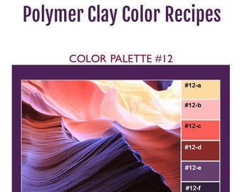 Kato Polyclay Polymer Clay Color Mixing Recipes for Color Palette #12