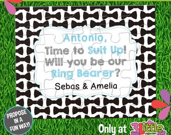 Be My Ring Bearer Puzzle - Personalized Ring Bearer Announcement Puzzle - Suit Up Ring Bearer Puzzle - Custom Ring Bearer Proposal Puzzle