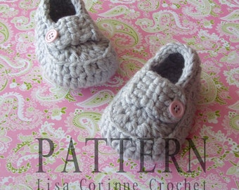 Crochet Baby Shoes PATTERN, Crochet Baby Booties, Cute Baby Girl Shoes