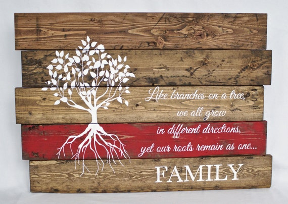 Wood Family Sign Family Quote Sign Reclaimed Wood Wall Art