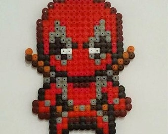 Deadpool chibi pixel art beading beads