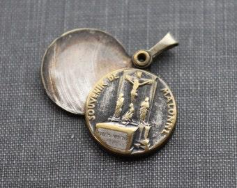 Antique Reliquary Medal / Saint Mutien-Marie of Malonne