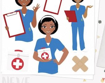woman nurse character clipart breast cancer nursing care rh etsy com nursing clip art images nursing clip art gif
