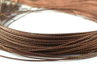 10 meters of metallic Brown wire 0.8 mm polyester