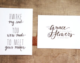Mumford and Sons Lyrics, Typography Printables Instant Download!