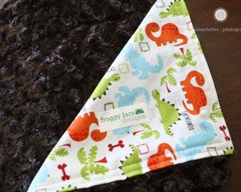 Dinosaur Minky Baby Blanket