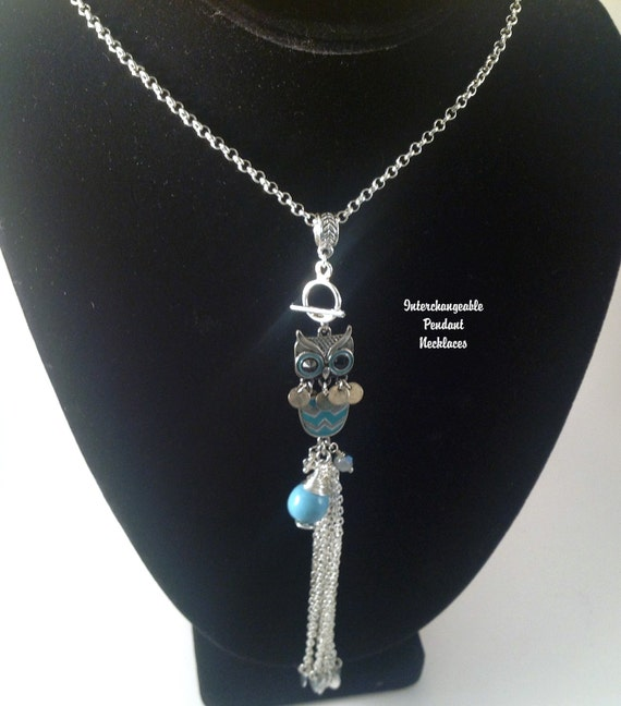 Interchangeable necklace pendant necklace long necklaces like this item aloadofball Image collections
