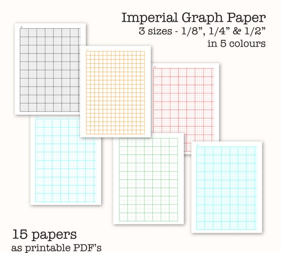 Imperial Measure Graph Papers Digital Graph Paper Pdf