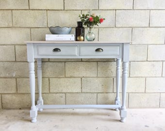 SOLD   Paris grey hall table
