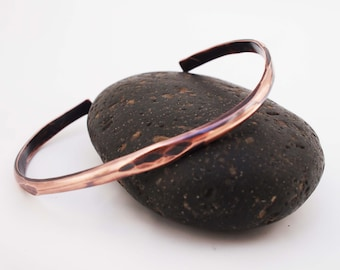 7th Anniversary Gift, Men's Copper Cuff, Men's Copper Bracelet, Oxidized Copper, Men's Jewelry