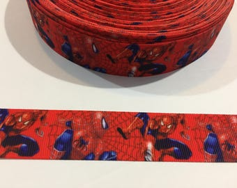 3 Yards of Ribbon 1 inch Wide - Inspired by Spiderman