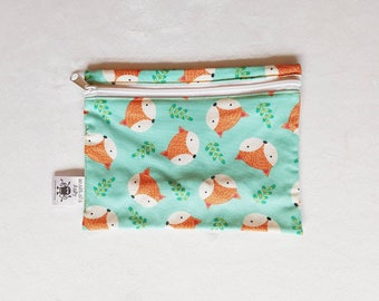 Hands Free Belt Bag Bright Fox Print, Ready to Post, Belt Bag, Fanny Pack, Bum Bag, Hip Bag, Hip Pouch, Babywearing Pouch, Babywearing Bag