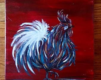 Chicken | abstract chicken | kitchen decor | kichem chicken | Chicken Scratch