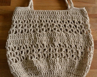 Crochet Beach Bag, Crochet Market Bag, Crochet Mesh Bag