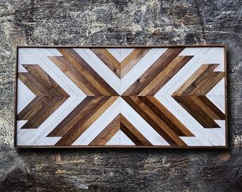 Original Headboard, Wood Wall Art, Reclaimed Wood Wall Art, Geometric Wall Art, Wood Headboard, Furniture