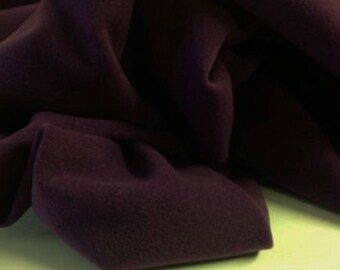 Italian heavy plum wool fabric  ,material ideal for coats 150 cm wide