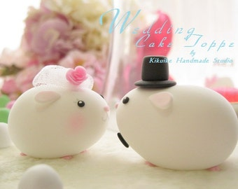 guinea pigs  Wedding Cake Topper---k712