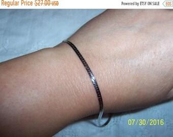 SUMMER SALE 20% OFF, Vintage Omega Bracelet. Sterling silver.