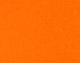 Tissu coton uni couleur Orange Feu