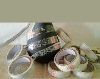 Wholesale lot of 50 mixed patterns, white lace tape m. 15mm