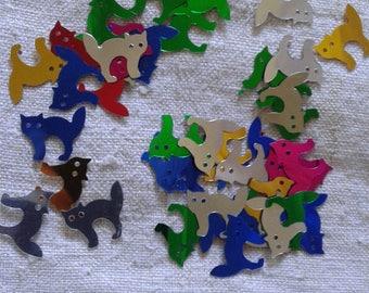 set of 100 cat paillets multicolored sequins