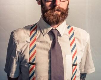 Schorem Barber pole  suspender - Men suspenders - Awesome mens gift