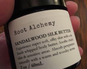 Sandalwood Silk Butter; Natural Deodorant; Chafing Remedy; Organic Sweat Absorbent Cream