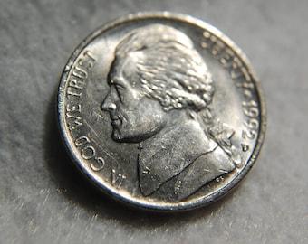 1992-D NICKEL ERROR COIN