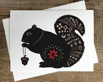 Squirrel - Greeting Card