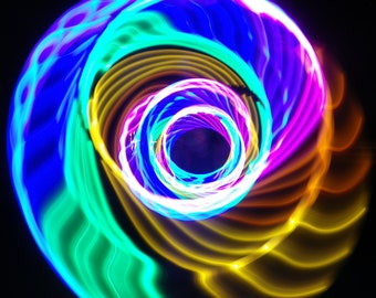 LED Hula Hoop Polypro HDPE Rainbow By TheHoopSmiths