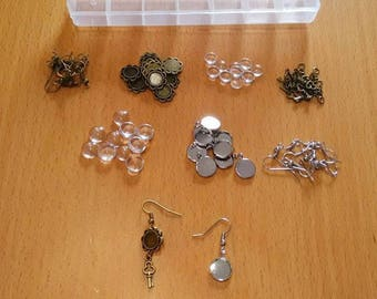 Perfect kit for 5 pairs of Earrings 8 mm and 5 pairs of Earrings 10 mm