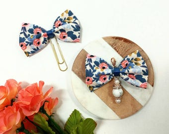 Rifle Paper Co Floral Fabric Bow Planner Paper Clip
