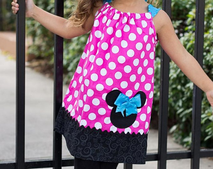 Minnie Mouse Hot Pink Polka Dot Vintage Pillowcase Dress