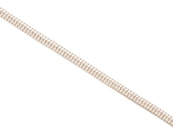 Snake Chain, Silver Plated Brass 2mm jewelry making chain, Finding chain sold Per 5 Ft