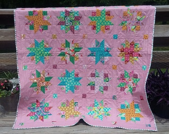 Handmade Lap Throw Quilt